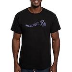 Star Outline Men's Fitted T-Shirt (dark)