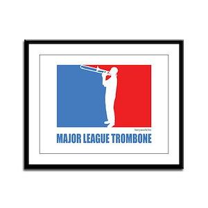 ML Trombone Framed Panel Print