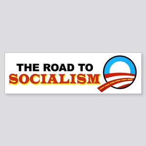 """""""The Road To Socialism"""" Bumper Sticker"""