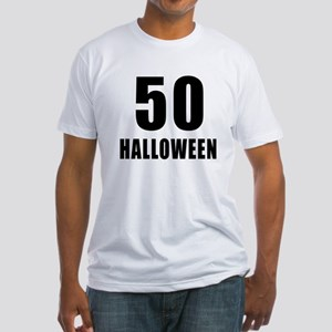 50 Halloween Birthday Designs Fitted T-Shirt