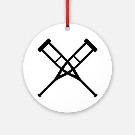 Crutches Ornament (Round)