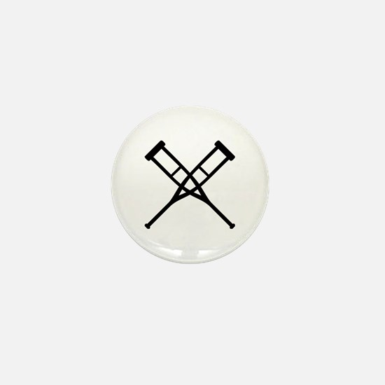 Crutches Mini Button