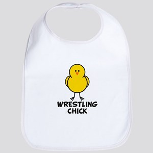 Wrestling Chick Bib