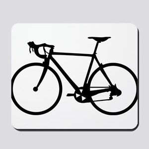 Racer Bicycle black Mousepad