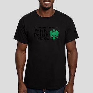 Irish Polish Girl Men's Fitted T-Shirt (dark)