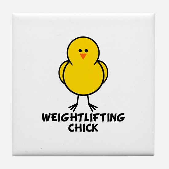 Weightlifting Chick Tile Coaster