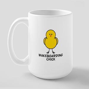 Wakeboarding Chick Large Mug