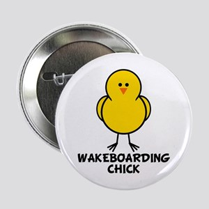 "Wakeboarding Chick 2.25"" Button"