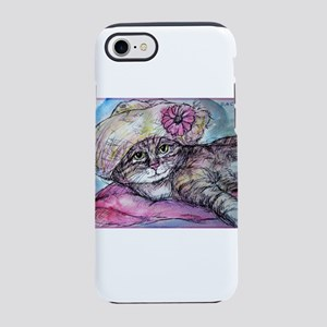Cat! Beautiful animal art! iPhone 7 Tough Case
