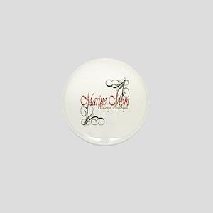 Swirl Marine Mom Mini Button