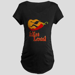 hEat Local Maternity Dark T-Shirt