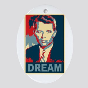 RFK DREAM Artistic Oval Ornament