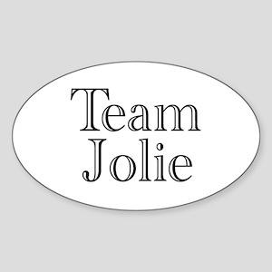 Team Jolie 3 Oval Sticker