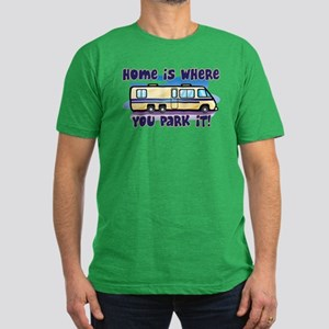 HOME IS WHERE YOU PARK IT! Men's Fitted T-Shirt (d
