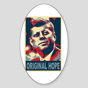 JFK ORIGINAL HOPE Pop Art Oval Sticker