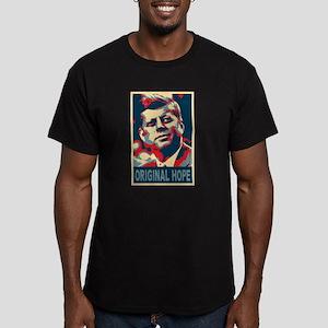 JFK ORIGINAL HOPE Pop Art Men's Fitted T-Shirt (da