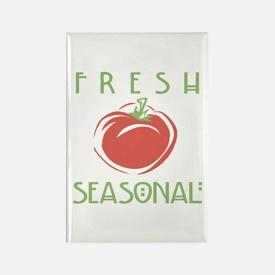 Fresh Seasonal Rectangle Magnet