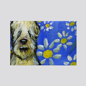Wheaten Daisies Rectangle Magnet (10 pack)