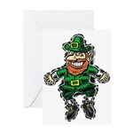 St. Patrick's Leprechaun Greeting Card