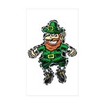 St. Patrick's Leprechaun Rectangle Sticker 10 pk)