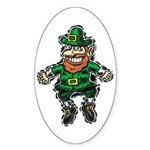St. Patrick's Leprechaun Oval Sticker (10 pk)