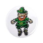 "St. Patrick's Leprechaun 3.5"" Button"