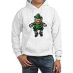 St. Patrick's Leprechaun Hooded Sweatshirt
