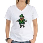 St. Patrick's Leprechaun Women's V-Neck T-Shirt