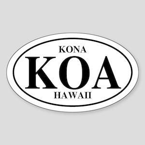 KOA Kona Oval Sticker
