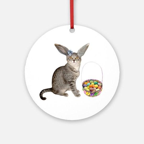 Easter Kitten Ornament (Round)