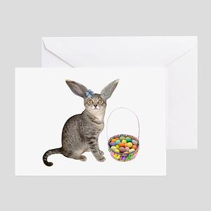 Easter Kitten Greeting Card