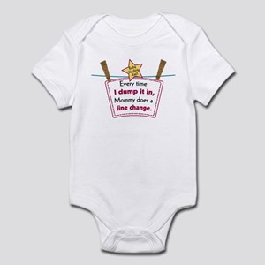 line change dump Infant Bodysuit