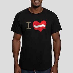 I heart Austria Men's Fitted T-Shirt (dark)