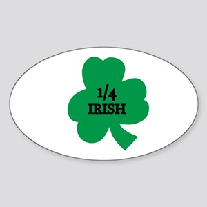 1/4 Irish Oval Sticker