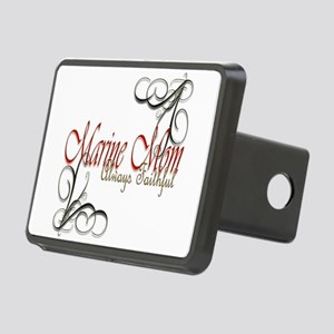 Swirl Marine Mom Rectangular Hitch Cover