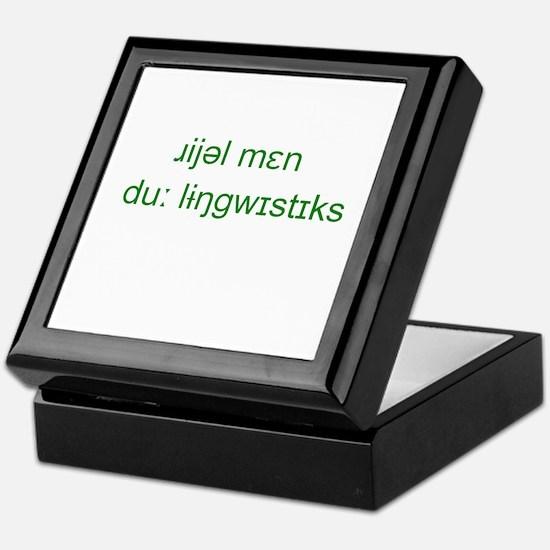Cute Linguistics Keepsake Box