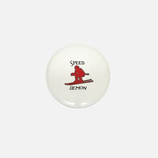 Snow Board Mini Button