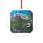 Ornament (Round) - Ninos y Jesus en la naturaleza