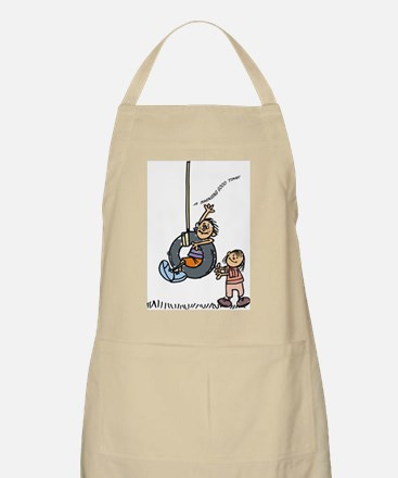 Stick figures- A swinging good time BBQ Apron