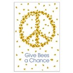 Give Bees a Chance Large Poster