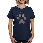 Wolf Paw Print Women's Dark T-Shirt
