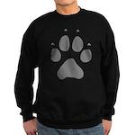 Wolf Paw Print Sweatshirt (dark)