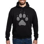 Wolf Paw Print Hoodie (dark)