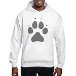 Wolf Paw Print Hooded Sweatshirt