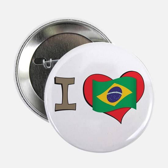 "I heart Brazil 2.25"" Button"