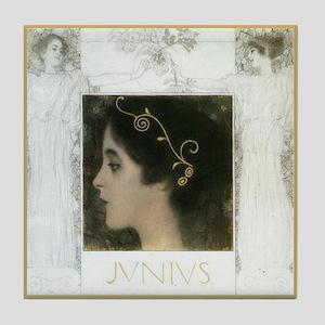 Gustav Klimt Art Tile Coaster Junius