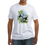 Panda Bears Fitted T-Shirt