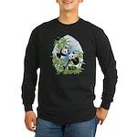Panda Bears Long Sleeve Dark T-Shirt