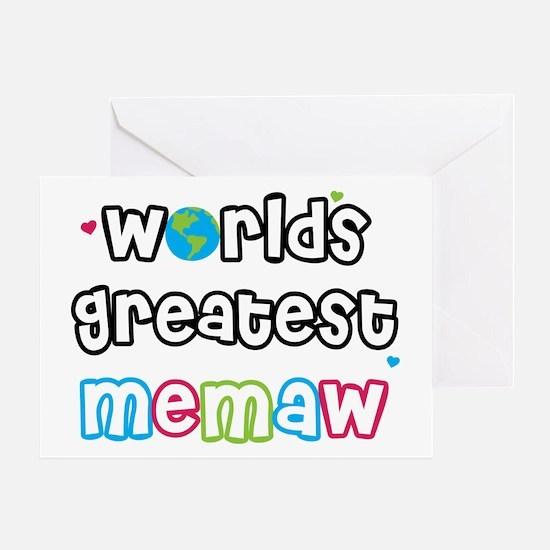 World's Greatest Memaw! Greeting Card