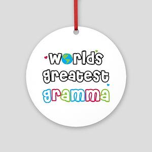 World's Greatest Gramma! Ornament (Round)